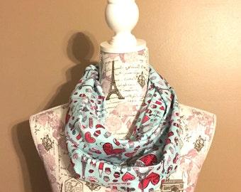 Paris love infinity scarf