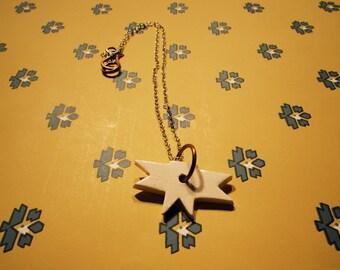 Southwestern Indian Inspired Ceramic Pendant Necklace