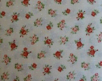 FANTASTIC SALE - ROSE For You~Small Roses~Cotton Fabric,Home Decor,Quilt Shabby Chic, 2220Y17A- Quilt Gate,Fast Shipping, F507