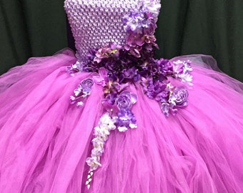 Radiant Orchid Flower Girl Dress