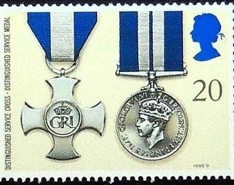 Distinguished Service Medal -Handmade Framed Postage Stamp Art 20226AM