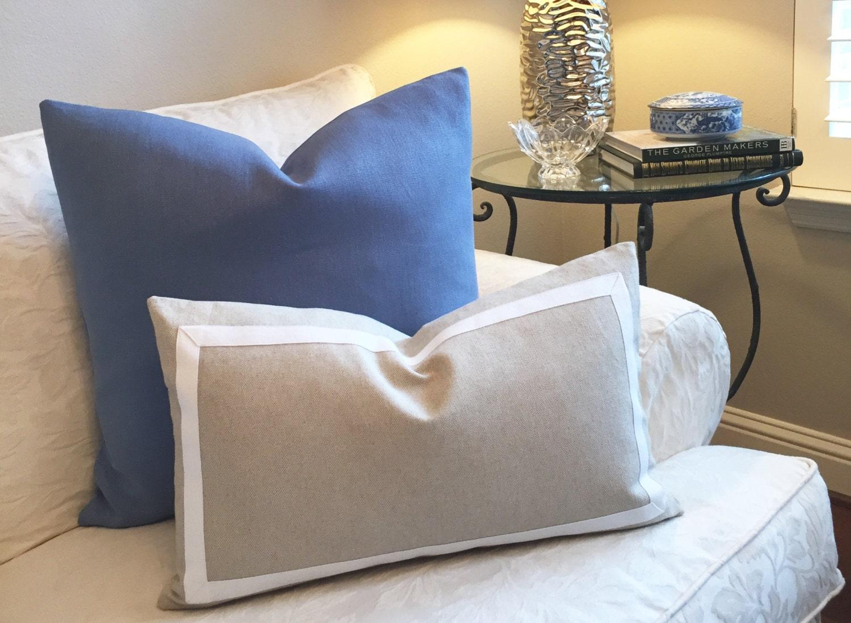 Blue Pillow Cover-Decorative Pillow Cover Light Blue