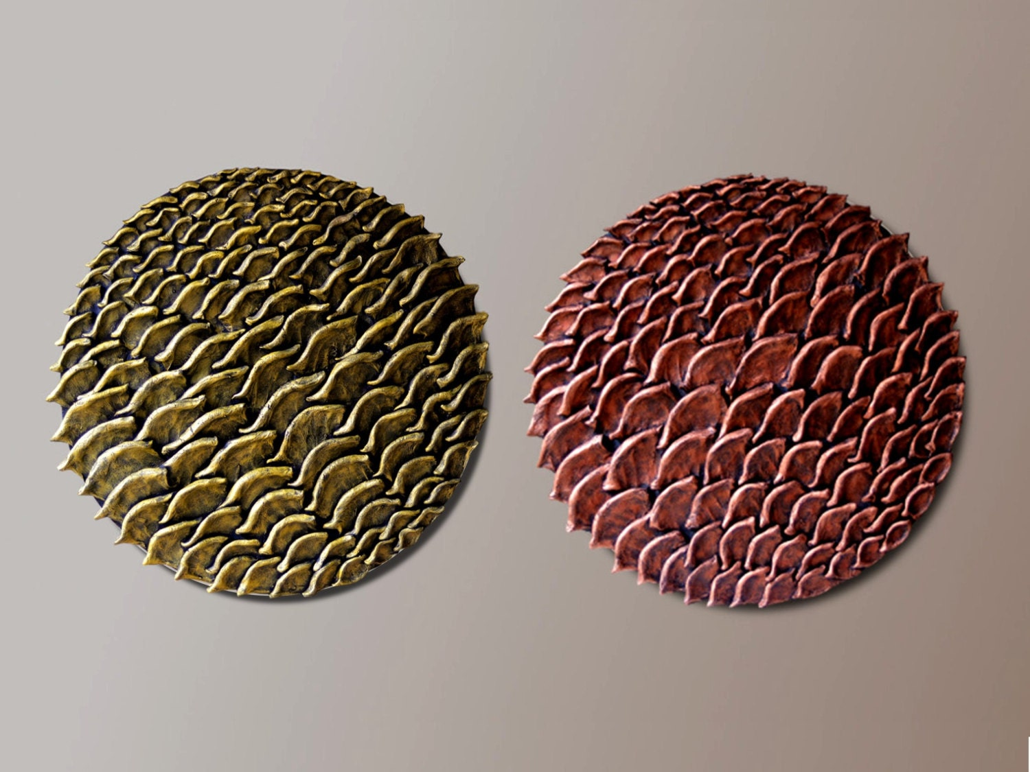Set Of 2 Round Wall Sculptures Round Wall Decor 3d Wall