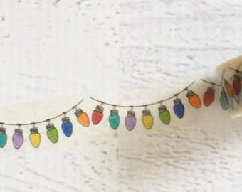 Hanging Christmas Light Bulbs Washi Tape 15mm