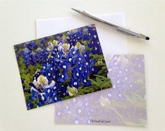 Floral Note Cards, Texas, Bluebonnet,Birthday Gift, Teacher Gift, Graduation, Bridal,Housewarming, Botanical,Note Cards(10 set),Thank you