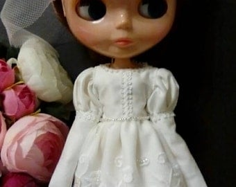 Blythe dress Wedding Bride Dress long long sleeves