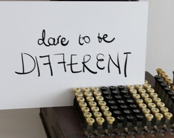 EKone - dare to be different - A4 print