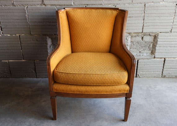 Vintage Gold Yellow Chair