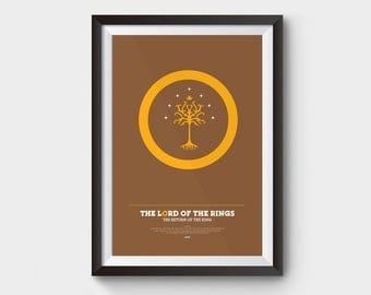 "The Return of The King - Lord of The Rings Poster: 12x16"" (A3) LOTR, poster, movie poster, gollum, LOTR, minimalist movie poster, hobbit"