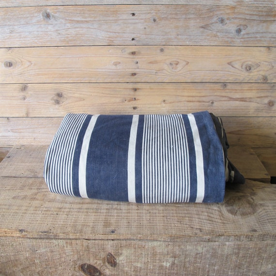 Antique French Cotton Stripe Thick Mattress Cover French