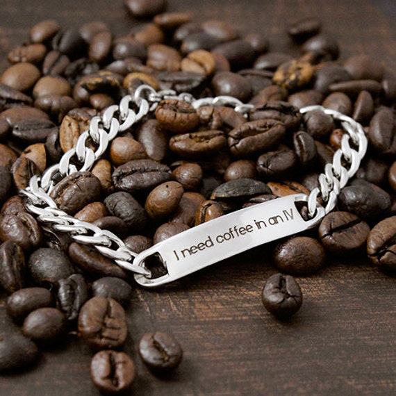 I need coffee in an IV - Gilmore Girls bracelet