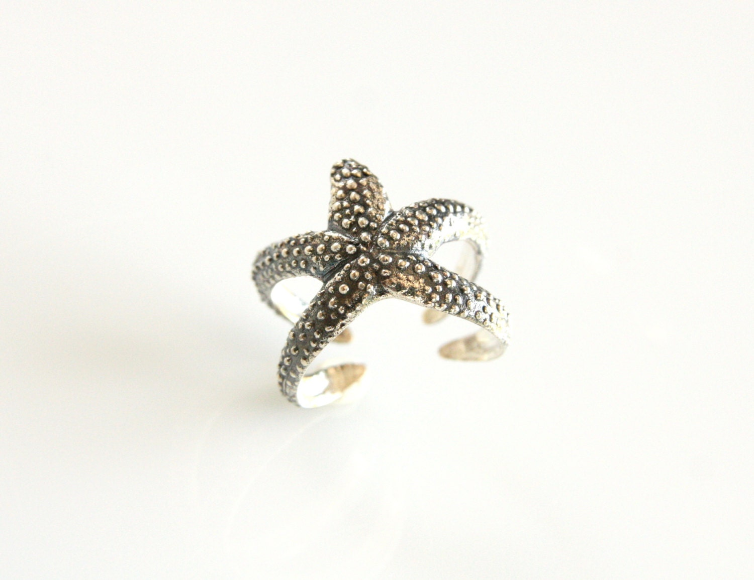 starfish ring silver ring statement ring statement jewelry