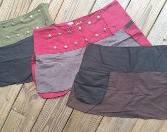 Mini Wrap Ladies Utility Skirt