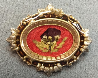 Brooch with Pressed Flowers-Free shipping