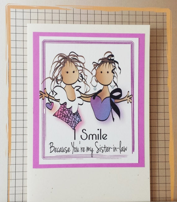 Card for Sister in Law Funny Sisterinlaw Birthday Card – Sister in Law Birthday Card