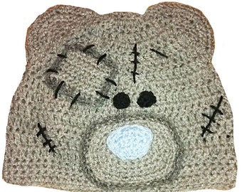 Tatty Teddy Inspired Hand Crocheted Hat