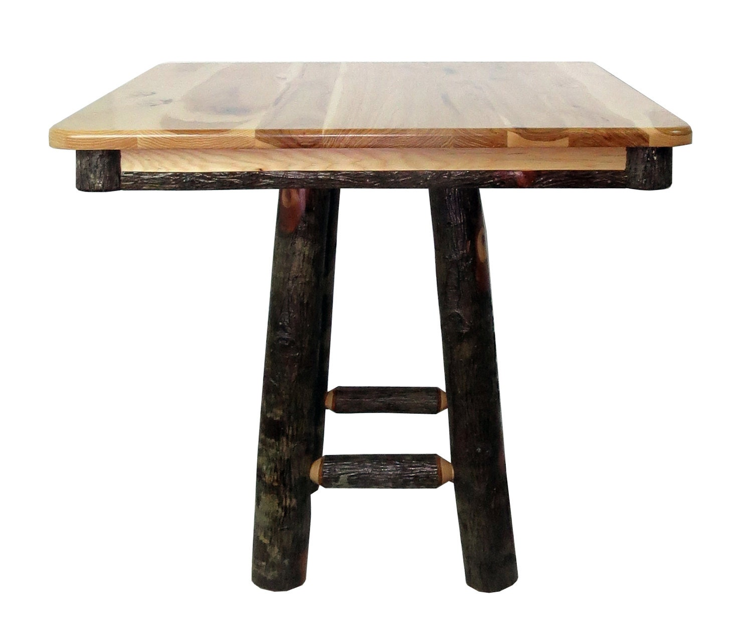 All Hickory 36 Square Kitchen Table Square Base