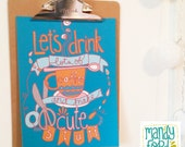 Coffee & Cute Stuff Handlettered Illustration Print