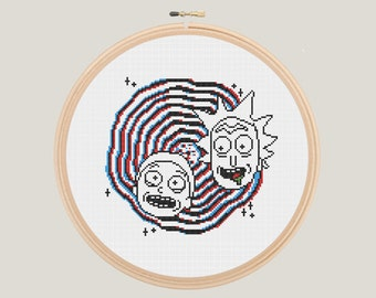 Rick and Morty in 3D Cross Stitch - PATTERN