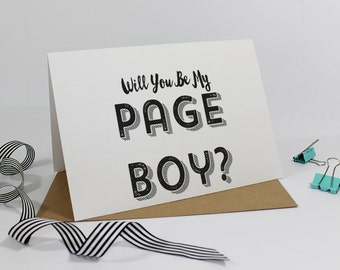 Will you be my Page Boy? Card - Wedding