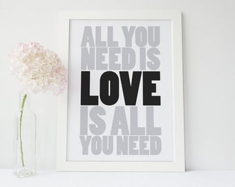 """Inspirational Poster - """"All You Need is Love..."""""""