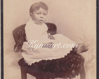 Sweetheart  African American Little Girl Cabinet Card
