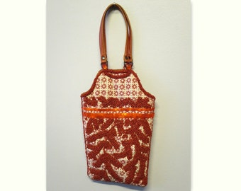 JAMIN PUECH cover orange fabric embroidered coral and sequins