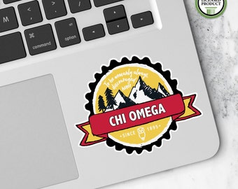 Chi Omega XO | Small Badge Decal | Sorority Big Little Reveal Gift | Official Licensed Product | XO-BD