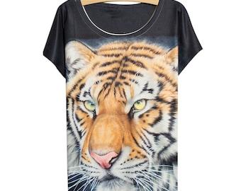 Original 3d printing personalized T-shirt tiger t-shirt / t-shirt printing