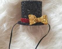 Mini Ringmaster Circus themed hat, circus theme, ringmaster hat, top hat, mini top hat, birthday hat, circus birthday