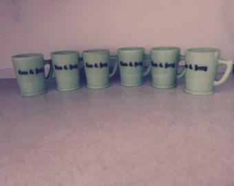 Vintage: Jadite Tom and Jerry mugs