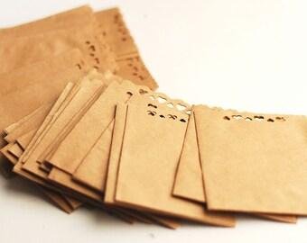 Handmade kraft paper envelopes - 20 pcs brown paper envelopes - merchandise / card / wedding favor envelopes
