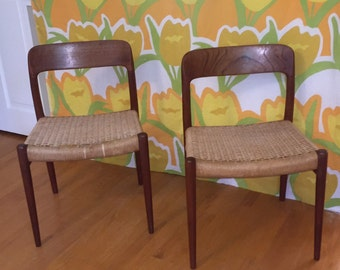 JL Moller #75 Chairs / Niels O. Moller / Price is for Both