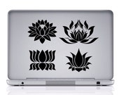 Vinyl Decal, Lotus Flower Decals,Yoga Decal, Meditation decal, Yoga sticker, Sticker, OM, Namaste, Zen, bumper sticker, car decal, #D11