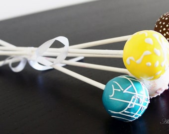 Fake Cake Pops,Set of 5 Cake Pops,Faux Candy,Faux Cake,Party favour,Centrepieces