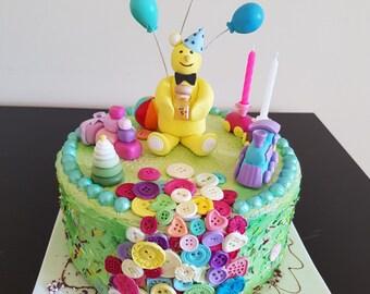 Fake Cake Baby Photo Prop Fake Birthday Cake Photography session Shoot Props Baby Birthday Cake Birthday Decoration