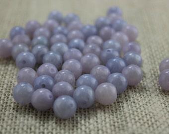 Vintage Pale Purple Lilac 10mm Acrylic Beads (28 Pieces)