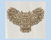 WOOD WALL ART ~ Barn Owl ...