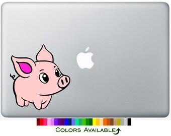 Cute Piggy Laptop Decal