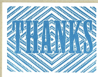 Thank You - (1) Handprinted Letterpress Card