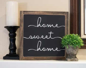 Home Sweet Home Sign, 12 X 12, Housewarming Gift