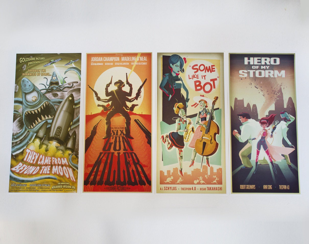 Overwatch Hollywood Movie Posters Set of 4 by BabbitsBoutique