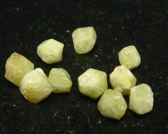 Lot of 10 Large Single Crystal Rhodizites from Madagascar