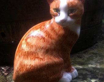 Cat, marmalade cat, cat figurine, marmalade cat design Smudge by Clare McFarlane