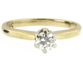 Old European Cut Diamond VS2 Engagement Ring in 14K Yellow Gold