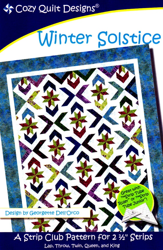 Winter Solstice Quilt Pattern For 2 1 2 Strips By