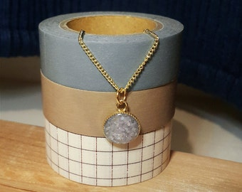 Iridescent Lavender Seashell Necklace