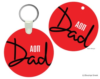 AOII Alpha Omicron Pi Dad Keychain Sorority