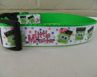 "Halloween ""Little Monster""  Dog Collar"