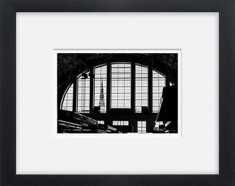Riga, black and white street photography European art, wall art,photo print vertical